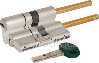 C31P313101C5 CHAMPIONS C31 MOTTURA Цилиндровый механизм 62мм (31x31) ключ/длинный шток, никель
