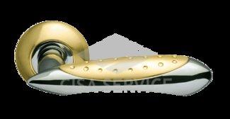Ручка раздельная Corvus LD35-1SG/CP-1 матовое золото/никель