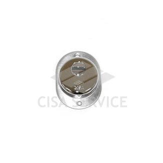 06470.00.18 Cisa Броненакладка на цилиндр  (хром) 25 мм