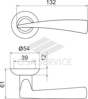 Ручка раздельная Armadillo (Армадилло) Columba LD80-1CP-8 хром