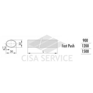 1.07007.15.0 Cisa Горизонтальная штанга (овальная труба) L=1500 мм, красный