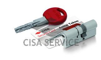 OM312.20.0.12CL.C5 Cisa ASTRAL TEKNO цилиндр 90 (30x60) кл/верт (никель)