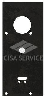 Пластина защитная для замков двухсистемных (сувальдный ключ внизу, тип-размер CISA 57.986)
