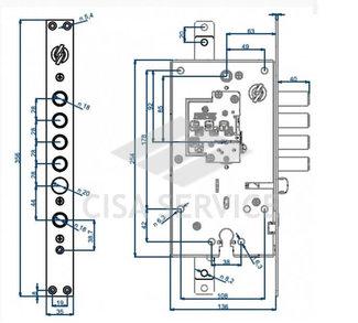 2433UCR0328S67 Securemme Замок двухсистемный 2433 (сув+цил) (5/1)