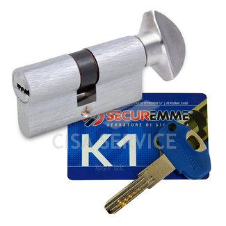 3100PCS35351X5 K1 Securemme Цилиндровый механизм с перекодировкой 70мм(35х35) ключ/вертушка, никель