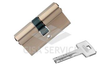 M12R410 ABUS цилиндровый механизм 65мм(30х35) ключ/ключ (никель)