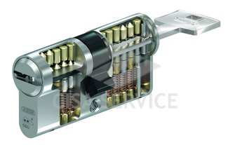 M12R410 ABUS цилиндровый механизм 80мм(40х40) ключ/ключ (никель)