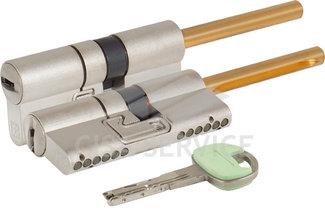C48P513101 CHAMPIONS C48 MOTTURA Цилиндровый механизм 82мм (51x31) ключ/длинный шток, никель
