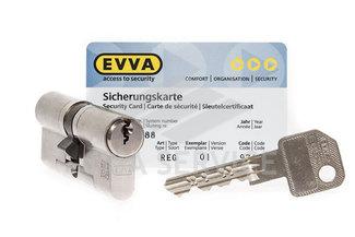 EVVA EPS Цилиндровый механизм 82мм (36х46) ключ/ключ, никель