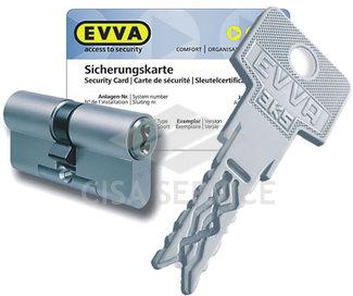 EVVA 3KS Цилиндровый механизм 72мм (36х36) ключ/ключ, никель