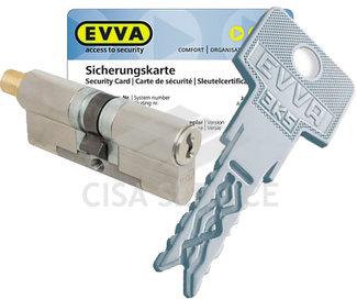 EVVA 3KS Цилиндровый механизм 87мм (31х56) ключ/вертушка, никель