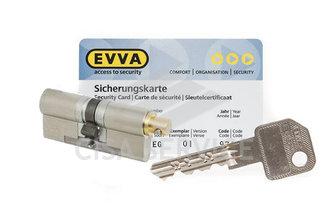 EVVA EPS Цилиндровый механизм 87мм (51х36) ключ/вертушка, никель