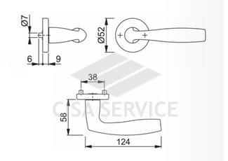 HOPPE Vitoria M1515/23K  Ручка дверная F49-R хром 3298738