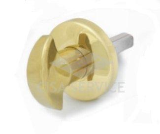 5061 Securemme Ручка поворотная с квадратом 8х80 мм, латунь